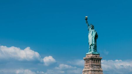 enlightening: Lady Liberty on Liberty Island in New York City