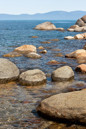 lake tahoe: Stones in the water at Lake Tahoe in the summer day