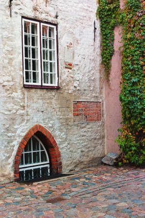 municipal: Old municipal courtyard in Latvia