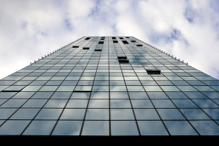 open windows: Open windows are in a sky-scraper