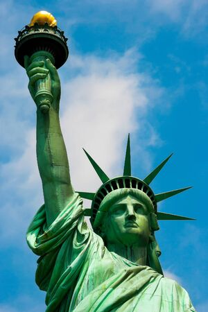 Close up of the Statue of Liberty in New York Stock Photo