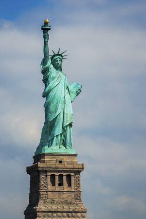 Lady Liberty on Liberty Island in New York City