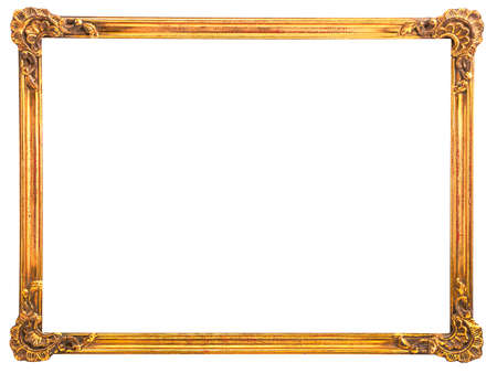 Old frame with gold.Isolated object Reklamní fotografie