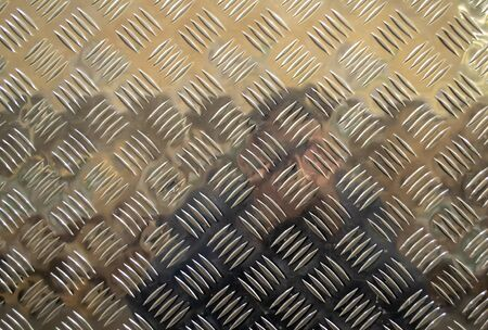 Metal floor plate with diamond pattern Banque d'images