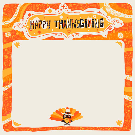 civilized: Happy Thanksgiving postcard, poster, background, ornament or invitation Illustration