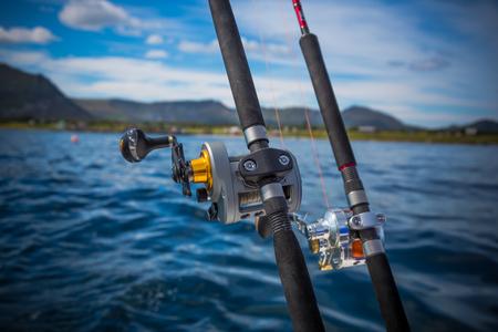 big game fishing: fishing rod