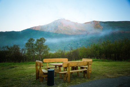 outdoor pursuit: camping place Stock Photo