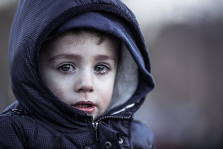 Armes Kind Standard-Bild