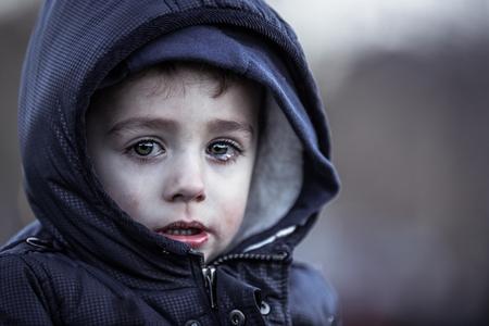 disadvantaged: poor child
