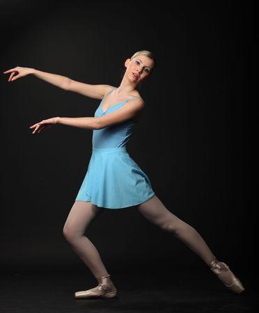 Beautifull young blond ballerina dance Stock Photo - 7083954
