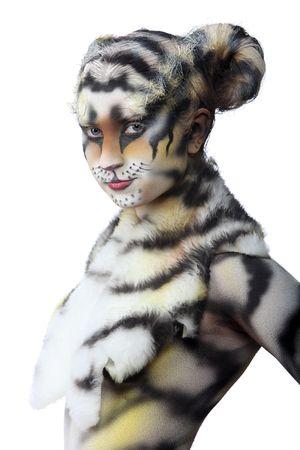 tigresa: Body-art: Tigresa blanca