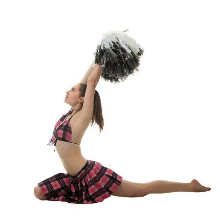 tailes: Cheerleader attraente ragazza sottile Archivio Fotografico