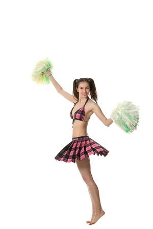 tailes: Cheerleader attraente giovane ragazza sottile