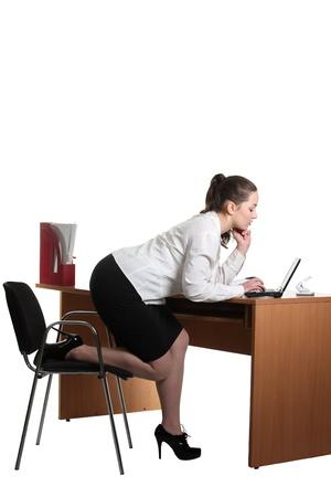 Businesswoman work on her workspace photo