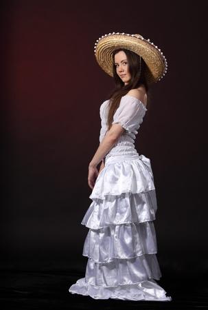 Kobieta w meksykańskim kostium