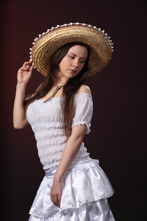 Woman in mexican costume photo