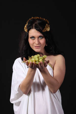 Ancient godness stretch a bunch of grapes Stock Photo - 9185297