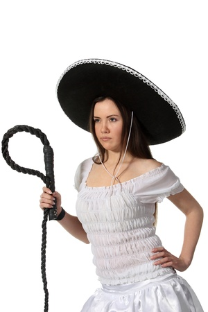 Woman in a mexican costume photo