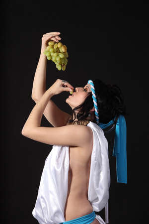 Ancient godness with a bunch of grapes Stock Photo - 9305117