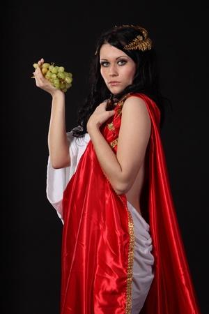 Godness starożytny z kiść winogron Zdjęcie Seryjne
