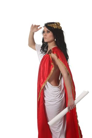 ancient sexy: Woman in an ancient greece costume look something