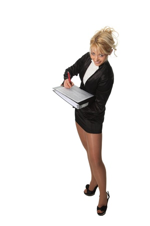 Young businesswoman hold a file Stock Photo - 9327217