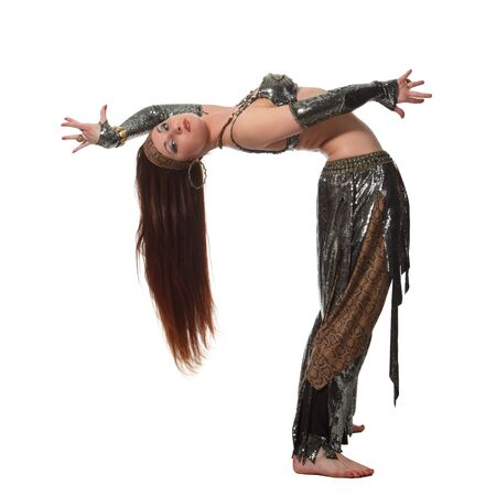 Woman in a snake costume dance in a tribal style Stock Photo - 9584585