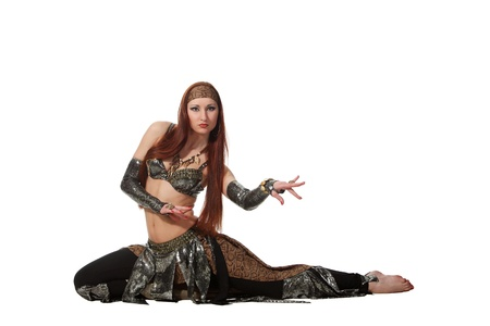Woman in a snake costume dance in a tribal style Stock Photo - 9584591