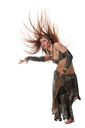 Woman in a snake costume dance in a tribal style Stock Photo - 9635619