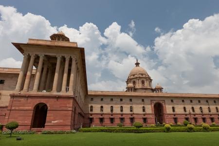 democracia: El parlamento de la India en Nueva Delhi