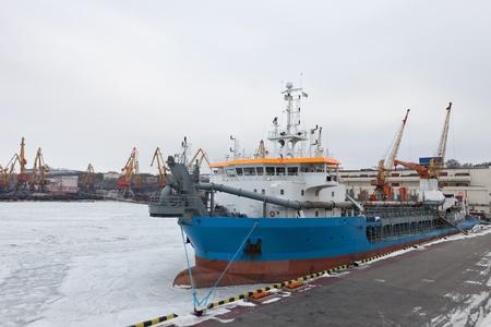 Ship in the Odessa seaport Stock Photo - 12476705