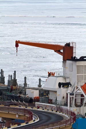 Cargo crane in the Odessa seaport Stock Photo - 12476709