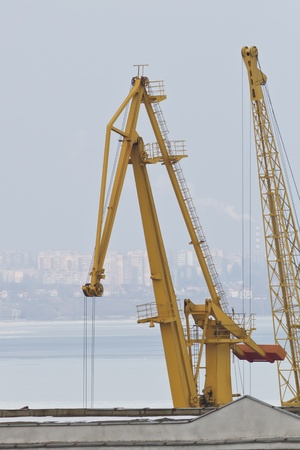 Cargo crane in the Odessa seaport photo