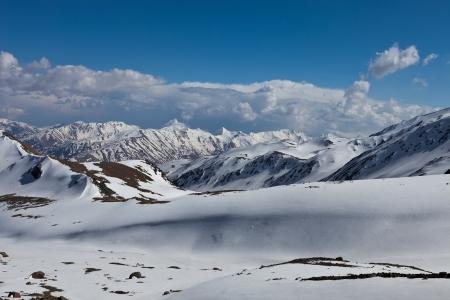 snowcapped: A Georgia mountains near Kazbek