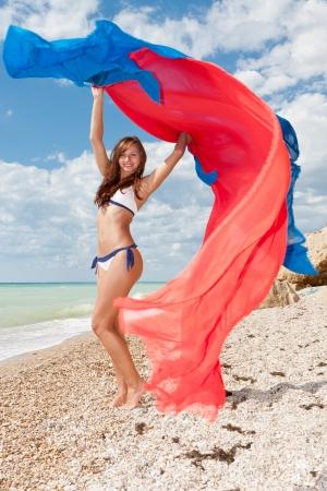 Young attractive girl weared in bikini