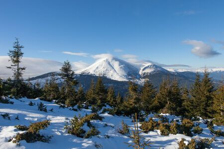 Petros. The second highest mountain of Ukraine. 2020 m Stock Photo - 17334240