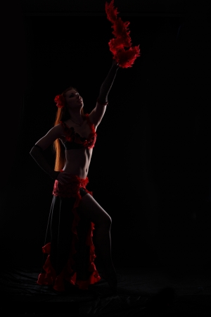 Attractive woman dance in the darkness Stock Photo - 17620177