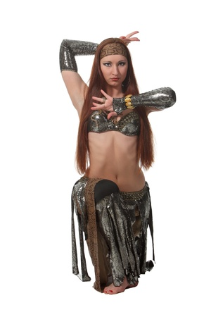 Woman in a snake costume dance in a tribal style Stock Photo - 17620157