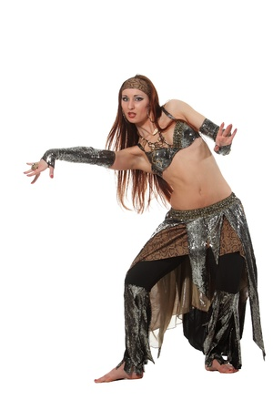 Woman in a snake costume dance in a tribal style Stock Photo - 17620119