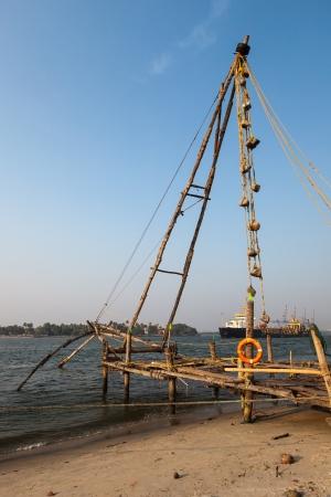 chinese fishing nets: Chinese fishnets  Kochi, Kerala, India