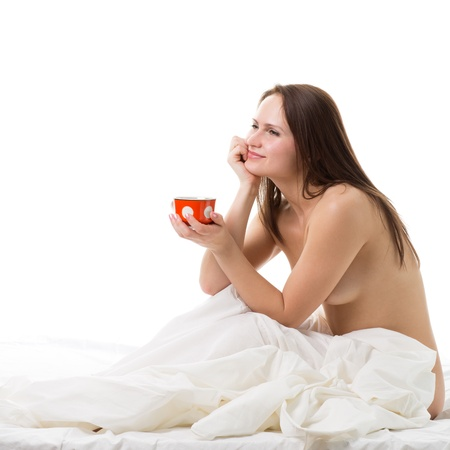 Kaffee nackt trinken