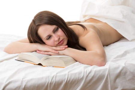 harry-butt-nude-female-reading-in-bed-spread-pussy