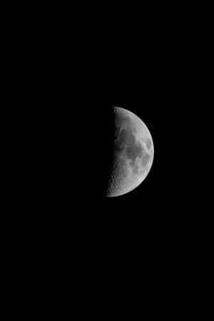 New moon at night. Taken with a 600mm lense photo
