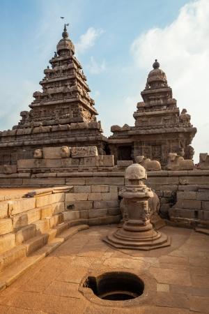 mahabalipuram: Ancient Shore temple of Mahabalipuram, Tamil Nadu, India
