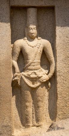 mamallapuram: Ancient Rock Temple, Five Rathas , Mamallapuram, Tamil Nadu India