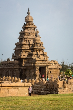 Ancient Shore temple of Mahabalipuram, Tamil Nadu, India photo