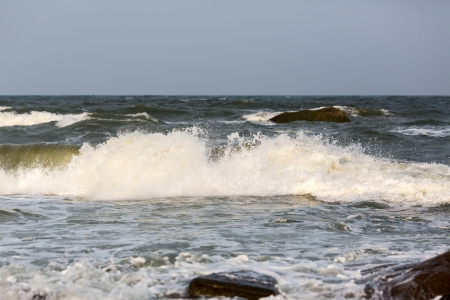 stormy waters: High waves of Indian Ocean