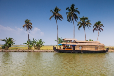 Cruise houseboats on the lakes of Kerala  South India photo