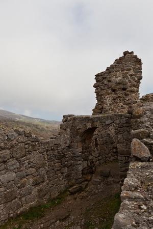 genoese: The ruins of the Genoese fortress Funa. Crimea. Ukraine