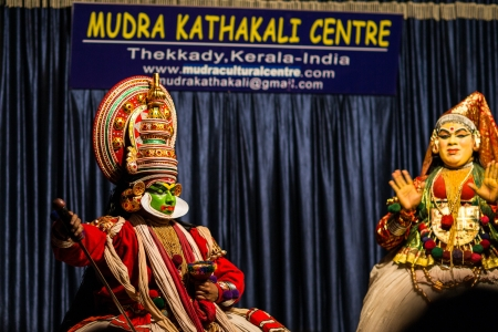 Presentation of Kerala traditional theater kathakali